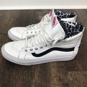 Vans Hi Top Zip Up Leopard Mens Sz 7/Womens 8.5